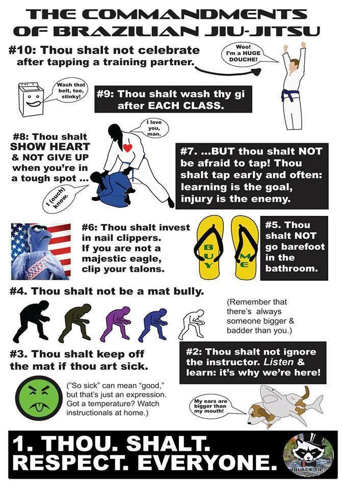 The Commandments of Brazilian Jiu-Jitsu
